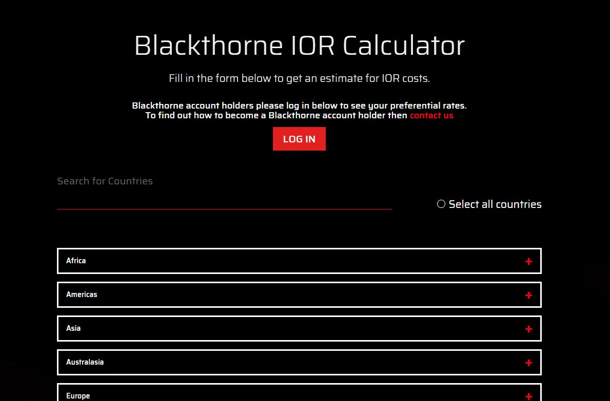 New IOR Calculator on the Blackthorne Website